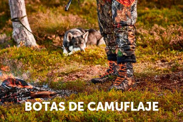 botas de caza de camuflaje
